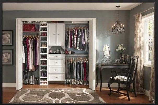 Closet Organizers Ikea With Black Painted Chair Bedroom
