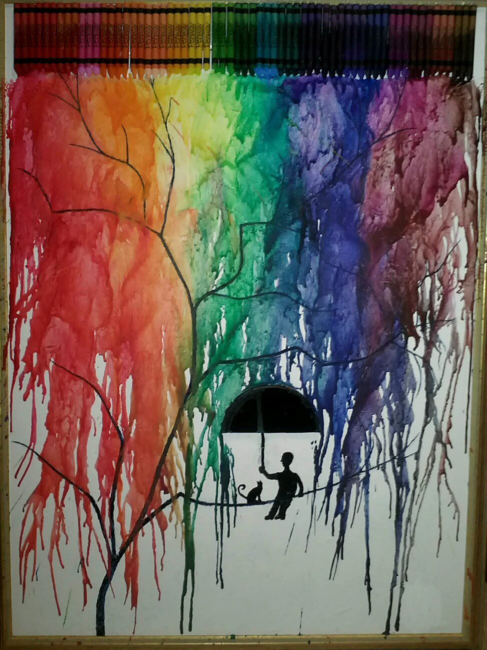 Trying out the melting crayon effect! :) | Pinterest | Cuadro, Cera ...