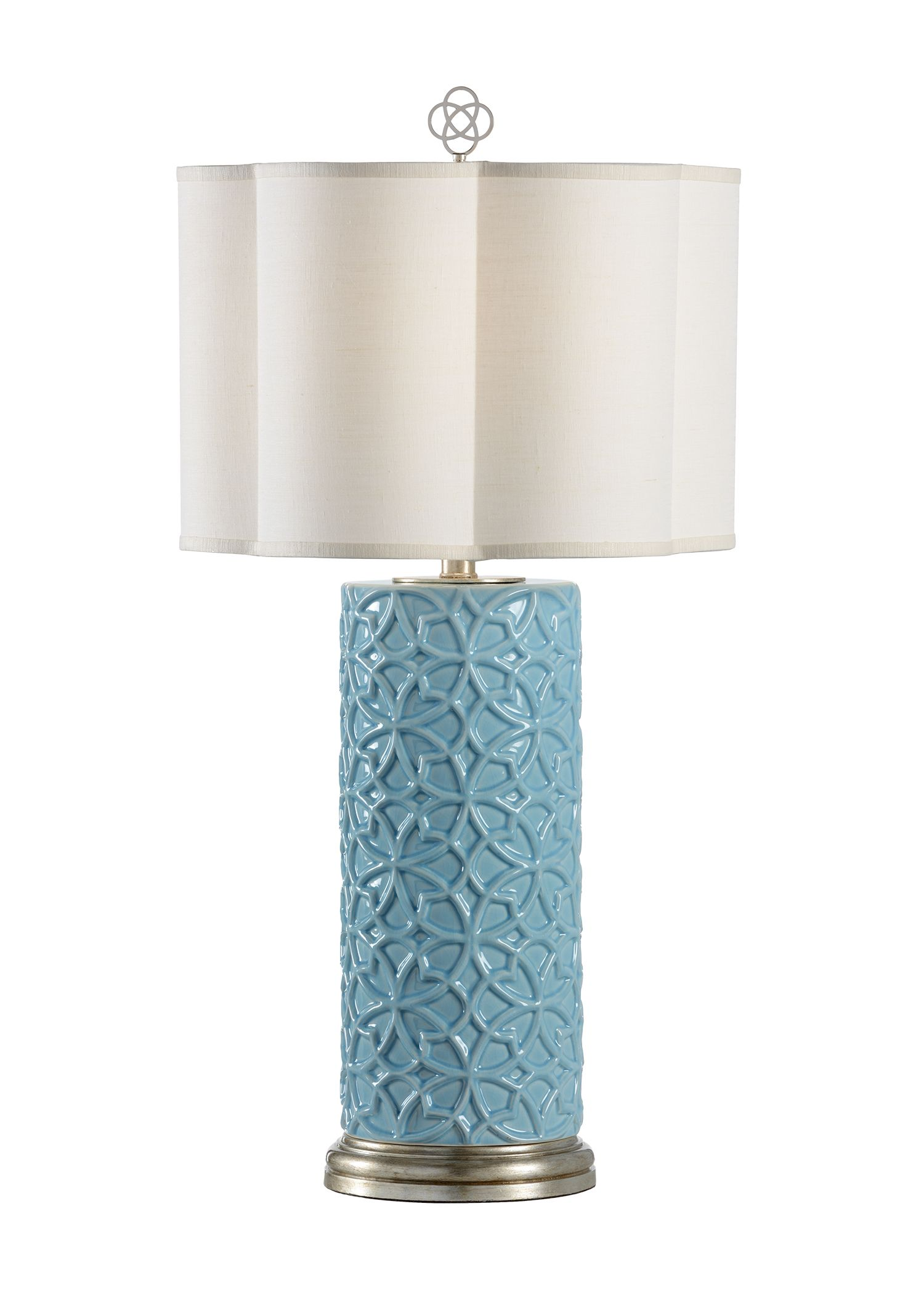 Cornelia Lamp In Pale Blue Pattern Is Inspired By The
