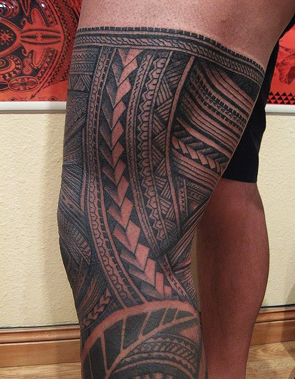 Traditional Maori Tattoos Leg: 30 Pictures Of Samoan Tattoos