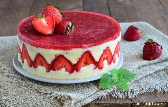 Ленивый торт «Фрезье» с творогом и готовыми коржами ...