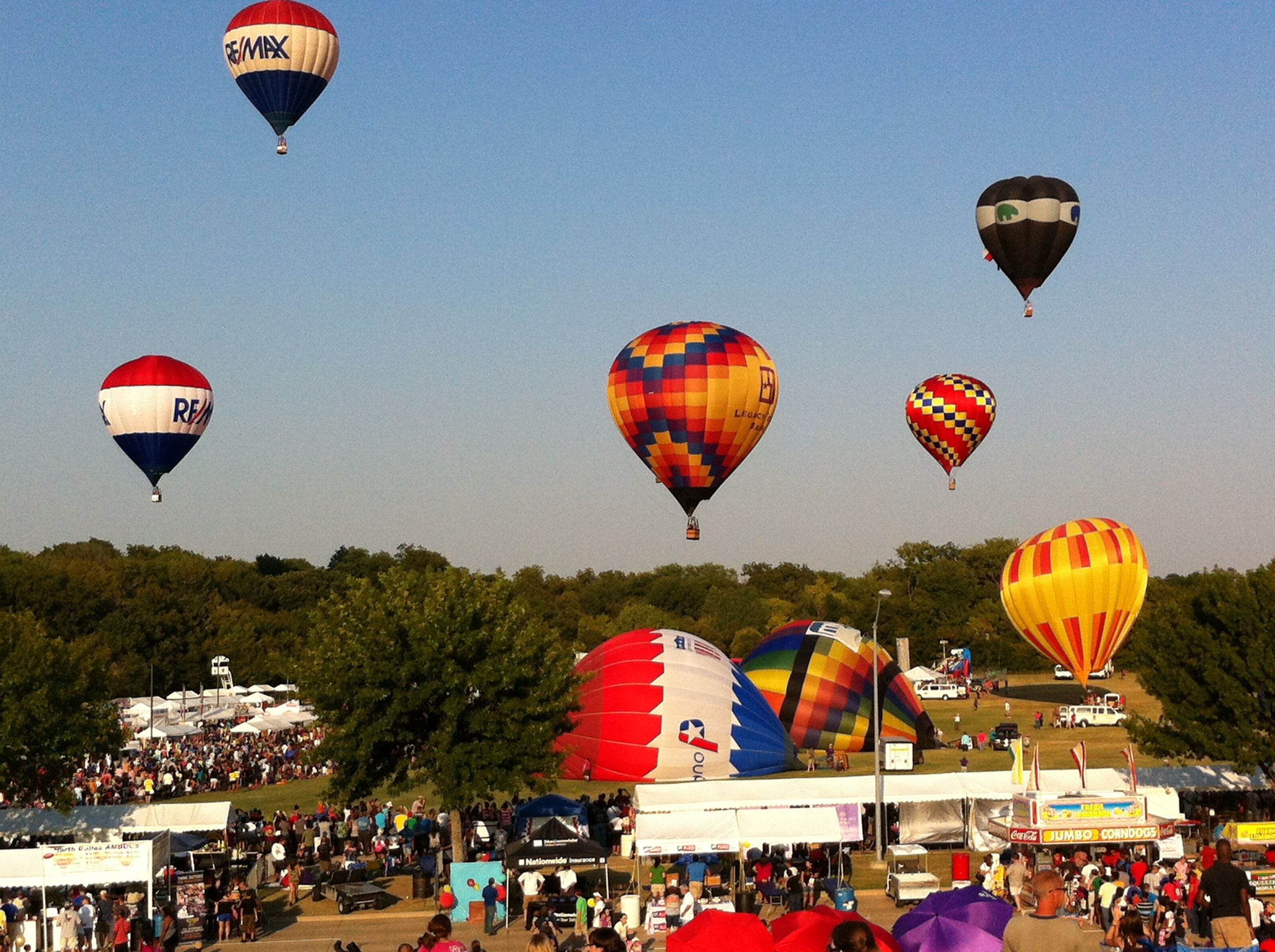 Plano, TX hot air balloon festival Places I have been