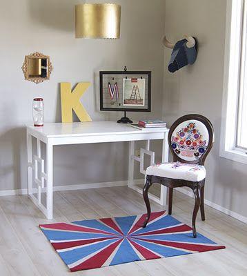 IKEA hack for a nice looking desk. | IKEA Hacks | Pinterest ...