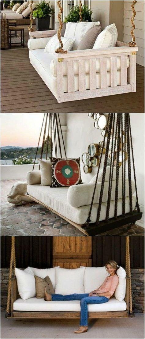 Hängebett selber bauen 44 DIY Ideen für Bett aus Paletten im - hollywoodschaukel selber bauen aus paletten