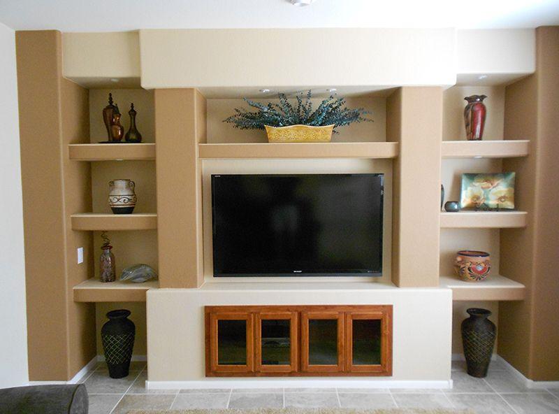 Custom Drywall Entertainment Centers | Custom Built Entertainment ...