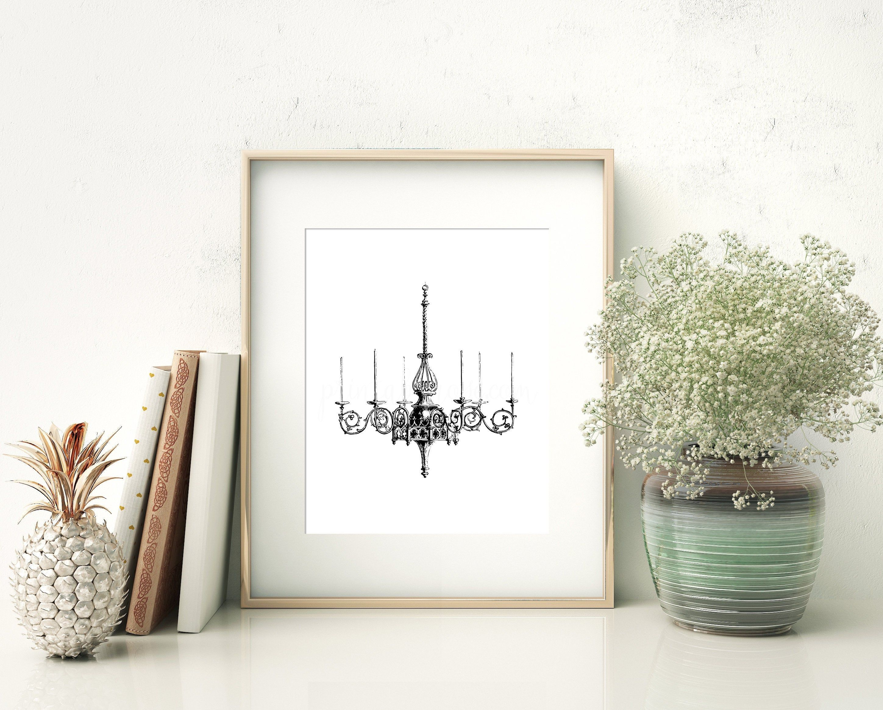 Chandelier Wall Art French Country Decor Vintage Home Decor