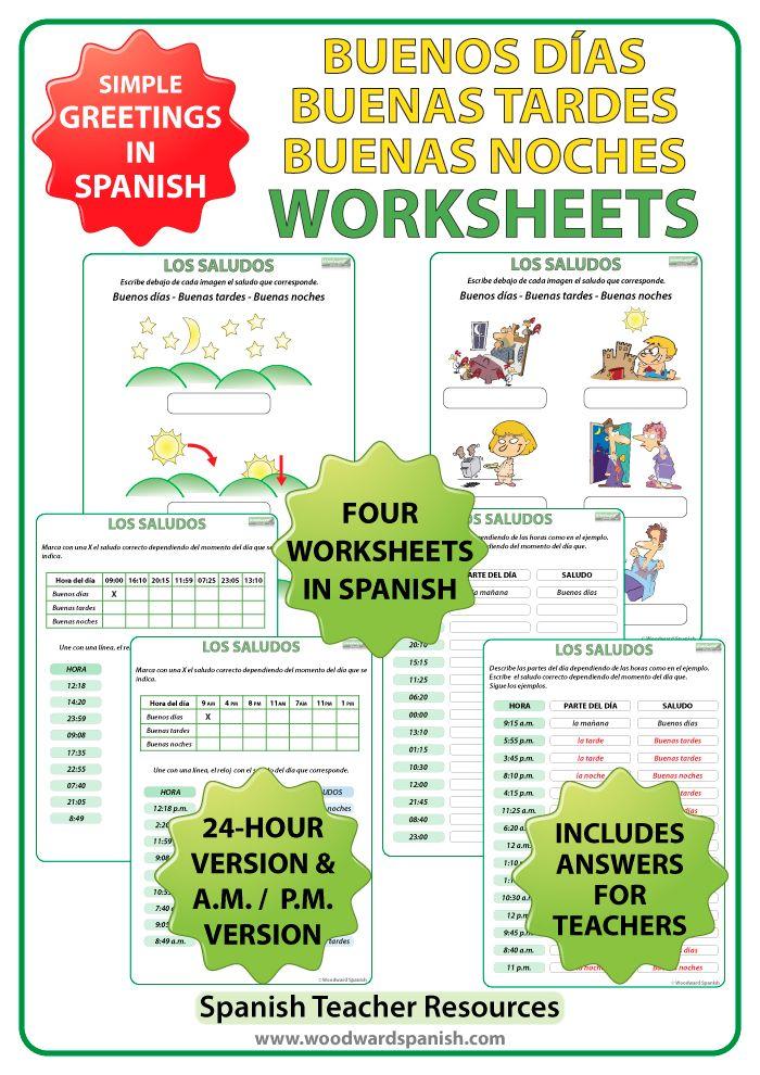 Buenos Dias, Buenas Tardes, Buenas Noches - Worksheets | 6th grade ...