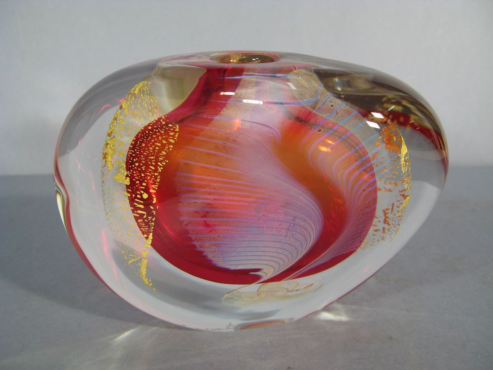 Exceptionnel VASE SIGNE LAURENT / VERRERIE CONTEMPORAINE ERIC LAURENT  HV39