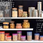 Aprenda organizar o armário de alimentos