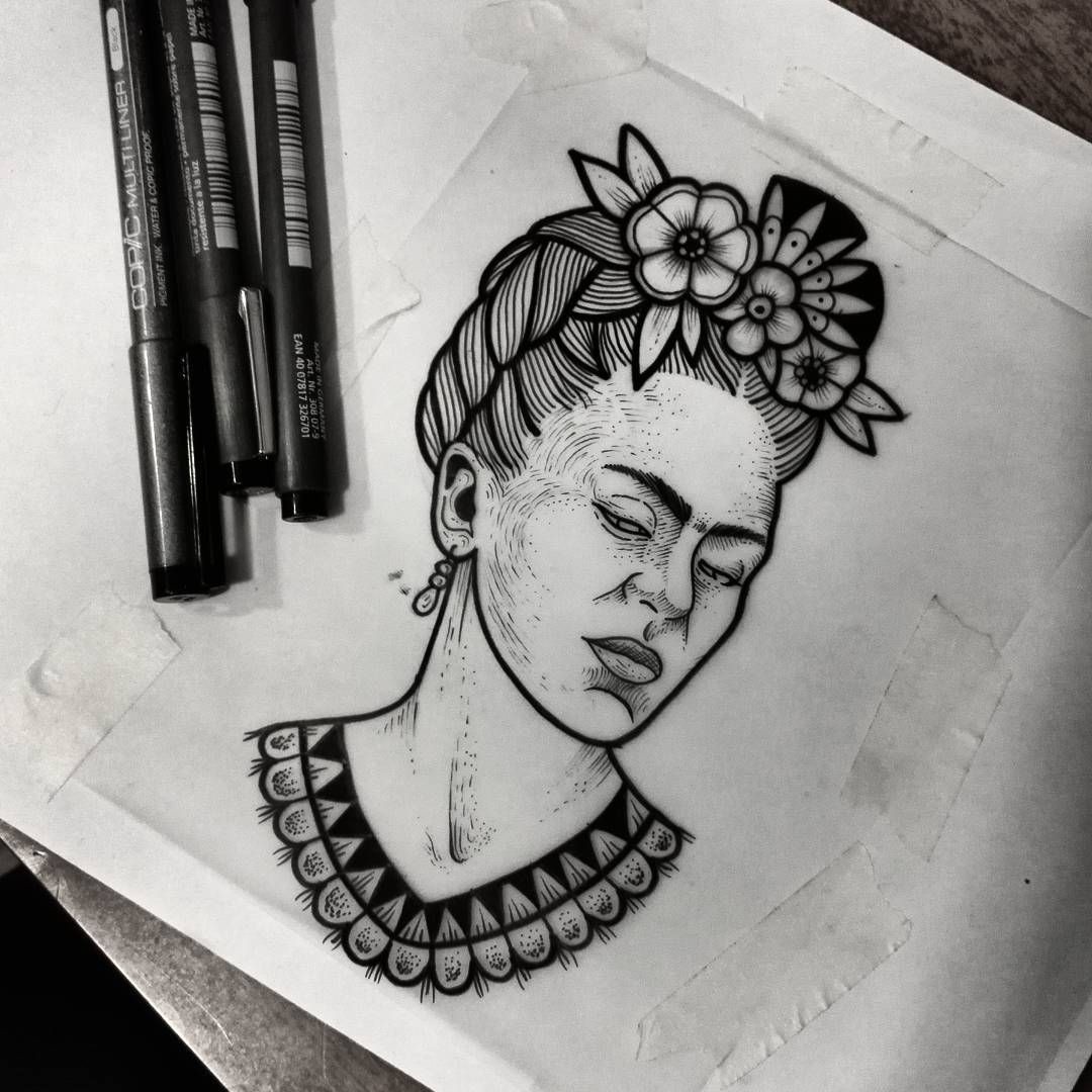 Resultado de imagen para frida kahlo drawing tattoo