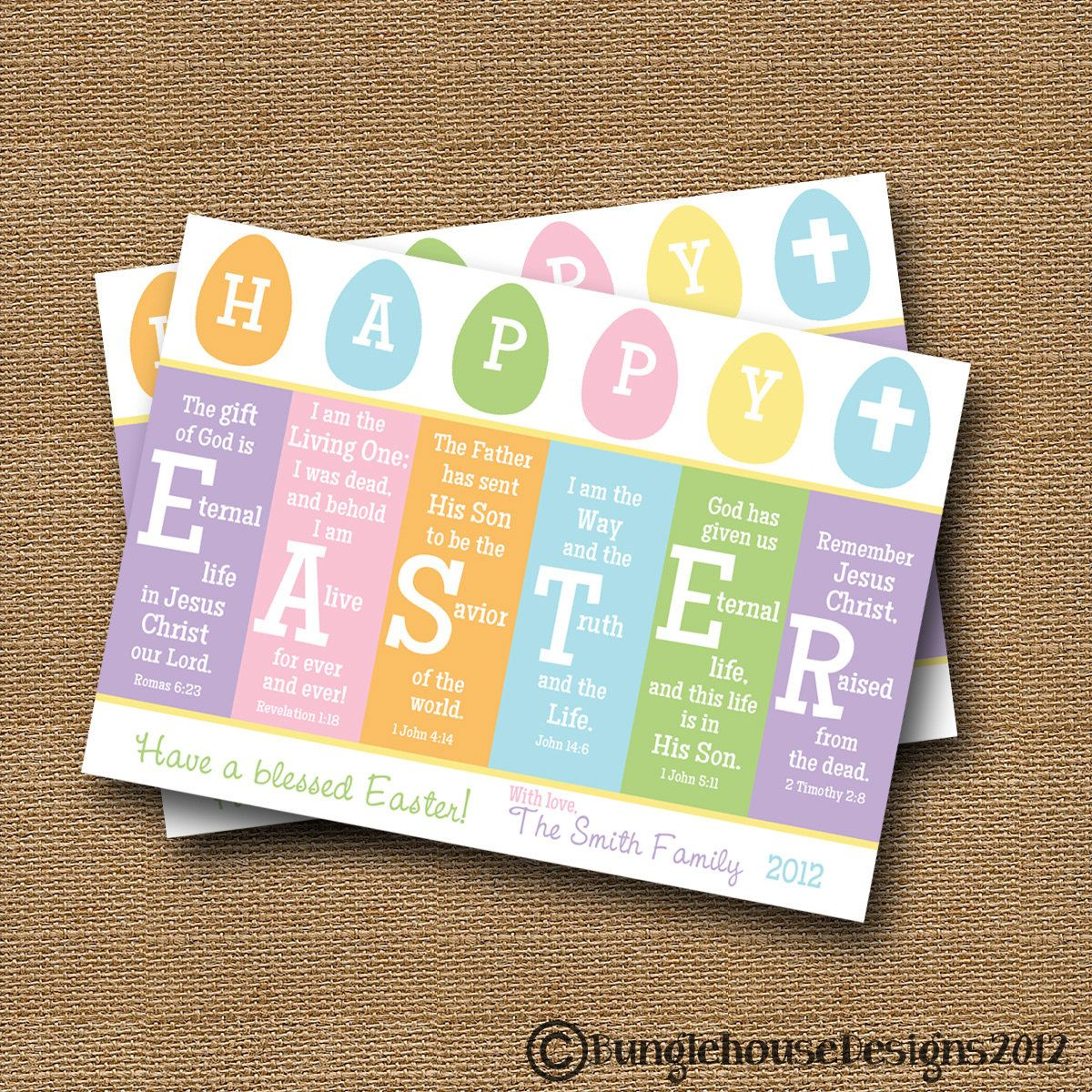 Scripture Easter Card Printable Easter Card – Easter Verses for Cards