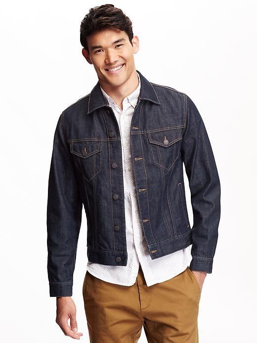 Men S Denim Jackets Old Navy Jean Jacket Outfits Men Denim Outfit Men Denim Jacket Men