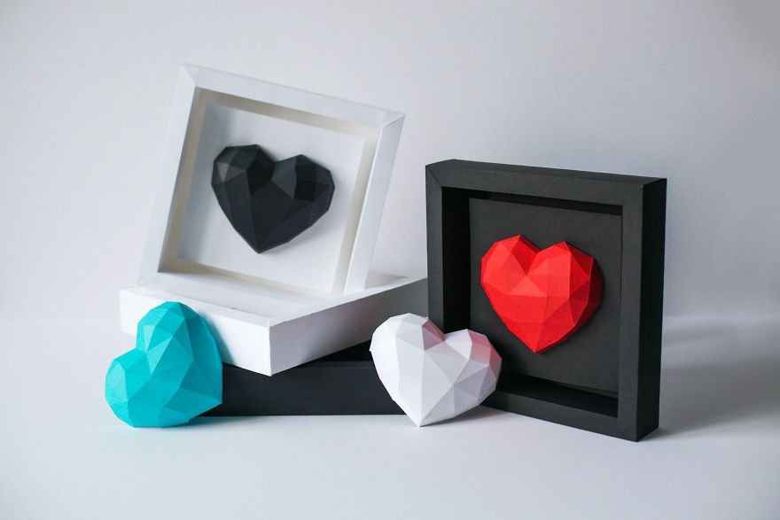 Photo of Diy Paper Hearts For Valentine's Day. Share Your Love