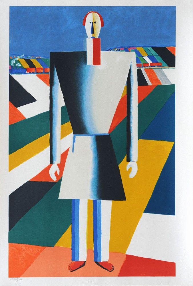Kazimir Malevich Peasant In The Fields Kazimir Malevich Malevich Suprematism