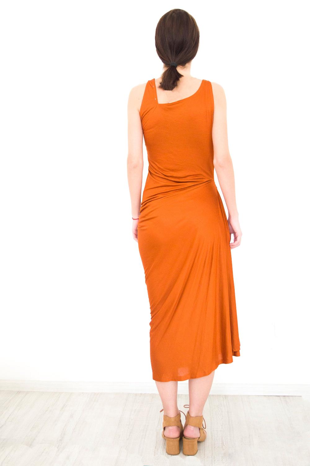 Casual Midi Dresssummer Midi Dressladies Orange Dressplus Etsy In 2020 Midi Dress Summer Womens Beach Dresses Midi Dress Casual [ 1503 x 1000 Pixel ]