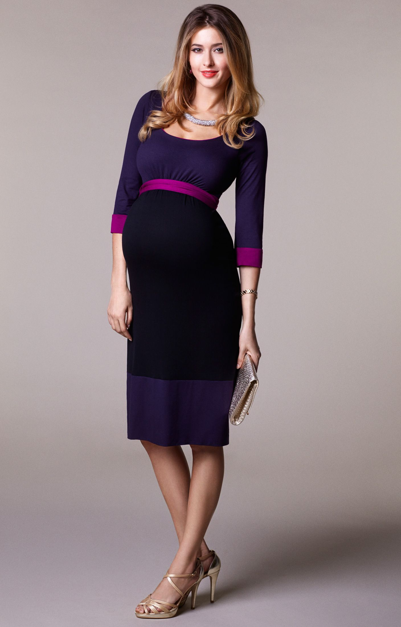 Colour block dress tiffany rose maternity dresses and color blocking colour block maternity dress purple by tiffany rose ombrellifo Image collections