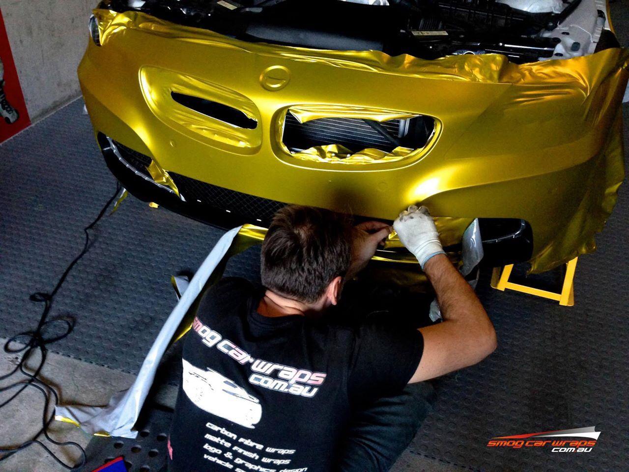 Satin chrome gold vinyl wrap Vinyl wrap car, Car wrap