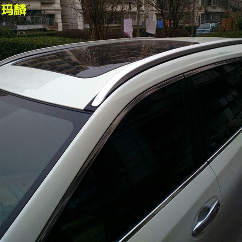 Car Styling Silver Alumnium Alloy Luggage Roof Rack Roof Rails