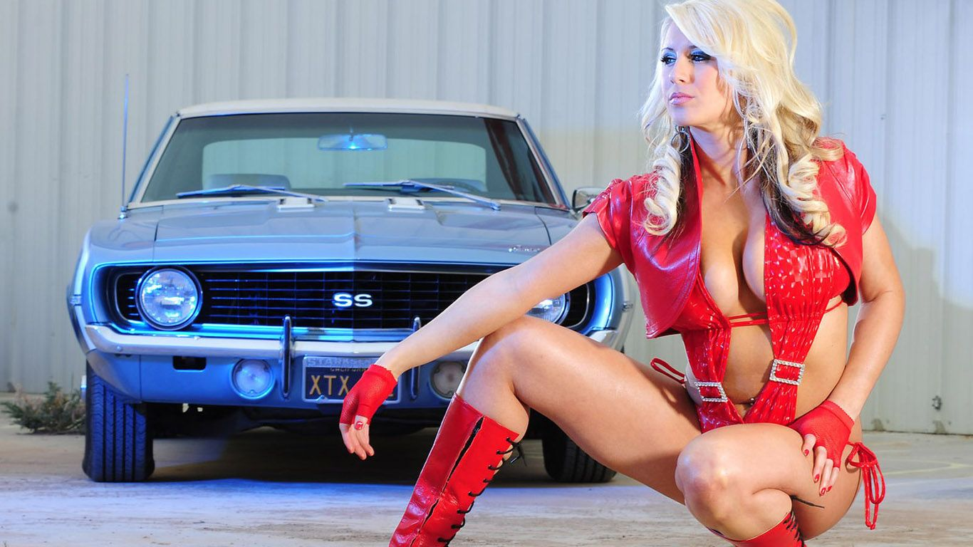 Girls And Cars Car And Girl 1366x768 Car And Girl