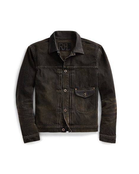 122d07fac7 RRL - Leather-Trim Selvedge Jacket