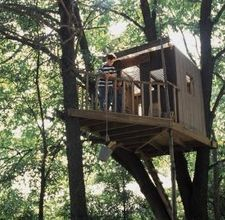 "*As the article's title says: ""simple but cool'' treehouse"