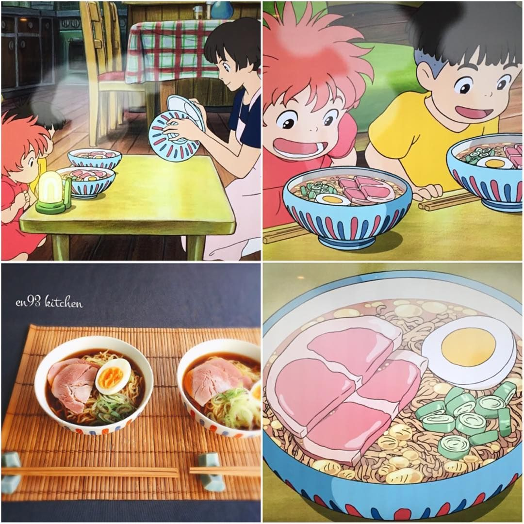 6 573 Mentions J Aime 106 Commentaires えん93 En93kitchen Sur Instagram En93kitchenのジブリ飯 お手本と並べて 崖の上のポニョ ハ Sleepover Food Ghibli Miyazaki