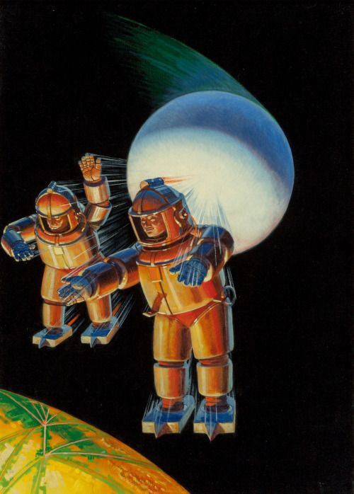 Howard V. Brown (American, 1878-1945)Lost City of Mars, Astounding Stories cover, February 1934Oil on canvas laid on boa...