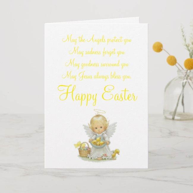 Photo of Easter Angel Greeting Card   Zazzle.com