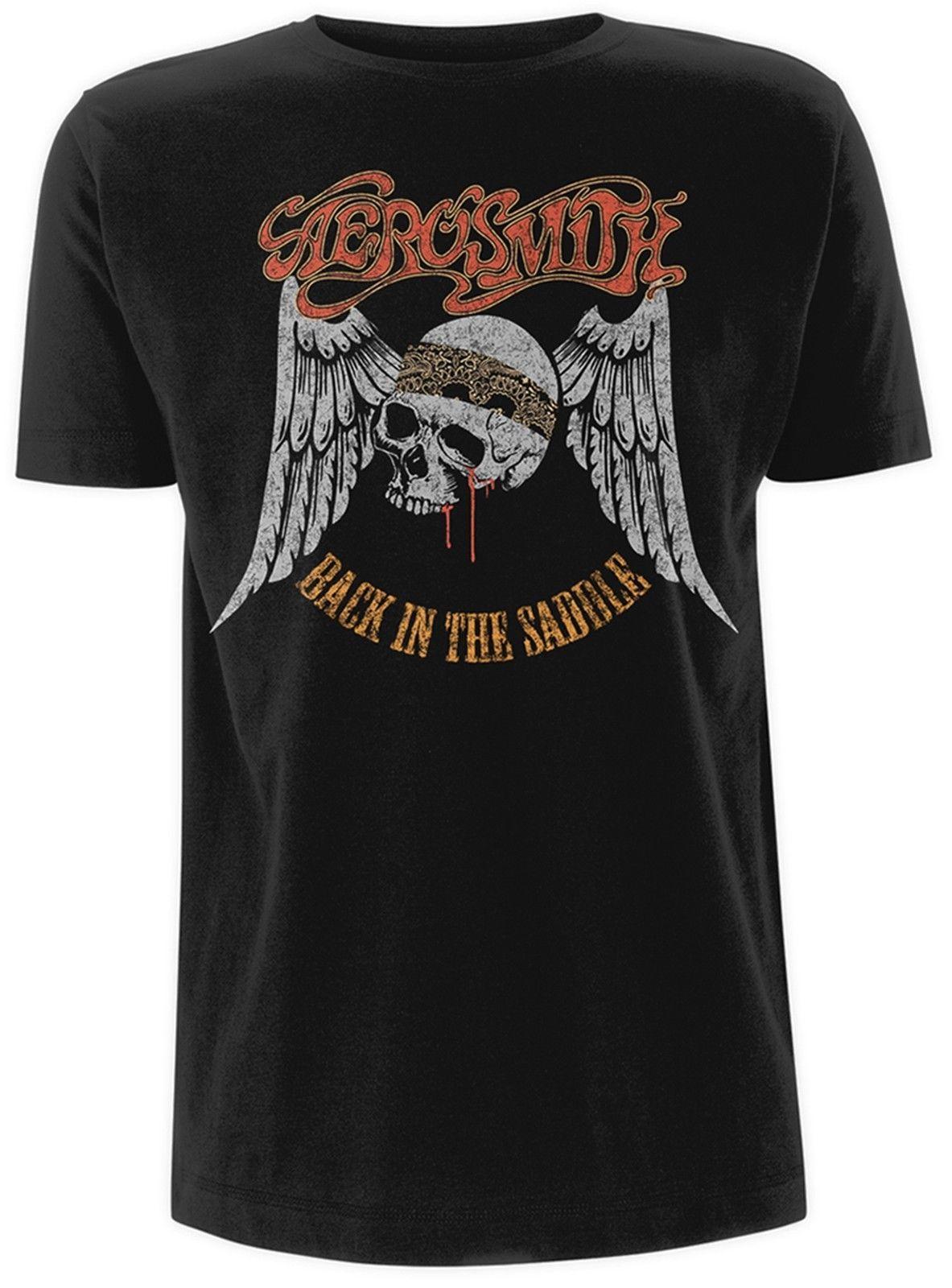 Aerosmith T Shirt Mens Cotton T Shirt Fashion Sports Tops Round Neck Short Sleeve Tee