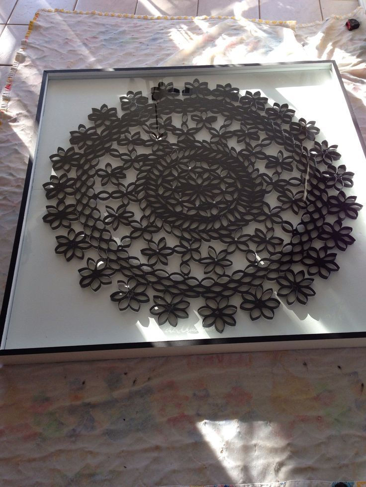 Decoração: Mandalas feitas de rolo de papel higiênico - IPUBLIQUEI