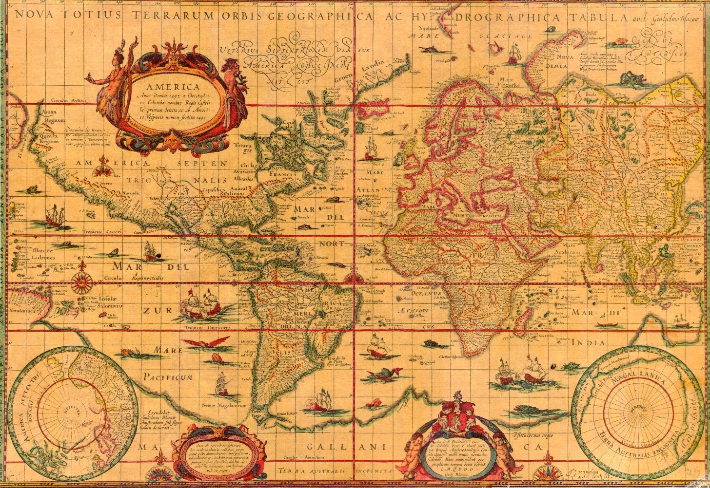 ancient maps | 17th Century World Map | mapas antigos | Pinterest ...