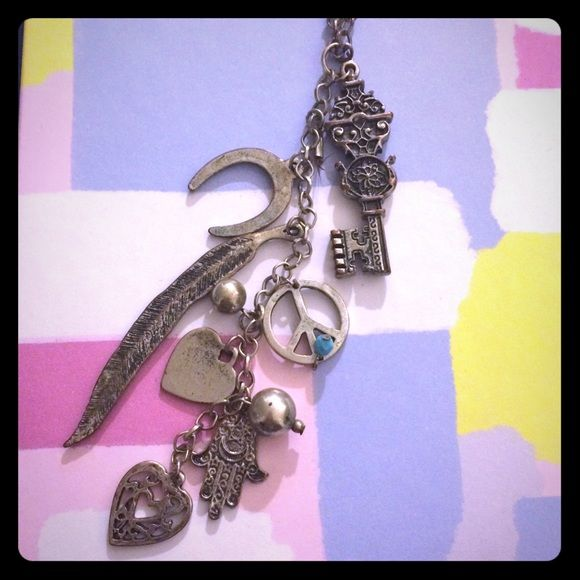Long Bohemian Charm Necklace Great for summer! Gently worn. Mossimo Supply Co Jewelry Necklaces