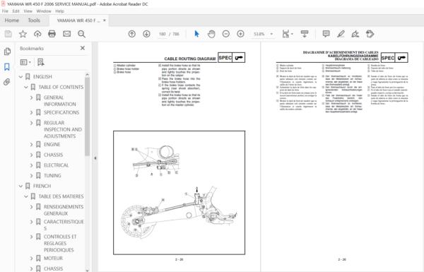 2003 2006 Yamaha Wr 450 F Service Repair Manual Download In 2020 Repair Manuals Yamaha Wr Manual