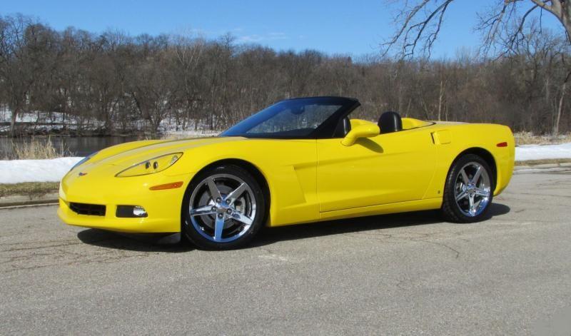 2009 Corvette Convertible For Sale Wisconsin 2009 Convt Yellow 6 Spd 16k Miles 27 900 Listing 814 Chevy Corvette For Sale Corvette For Sale Corvette