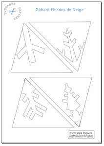 Fiche Creative N 9 Flocons De Neige En Papier Instants Papiers