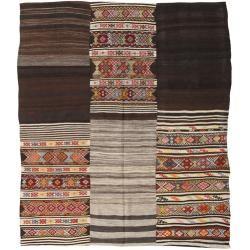 Photo of Kelim Patchwork Teppich 214×250 Orientteppich