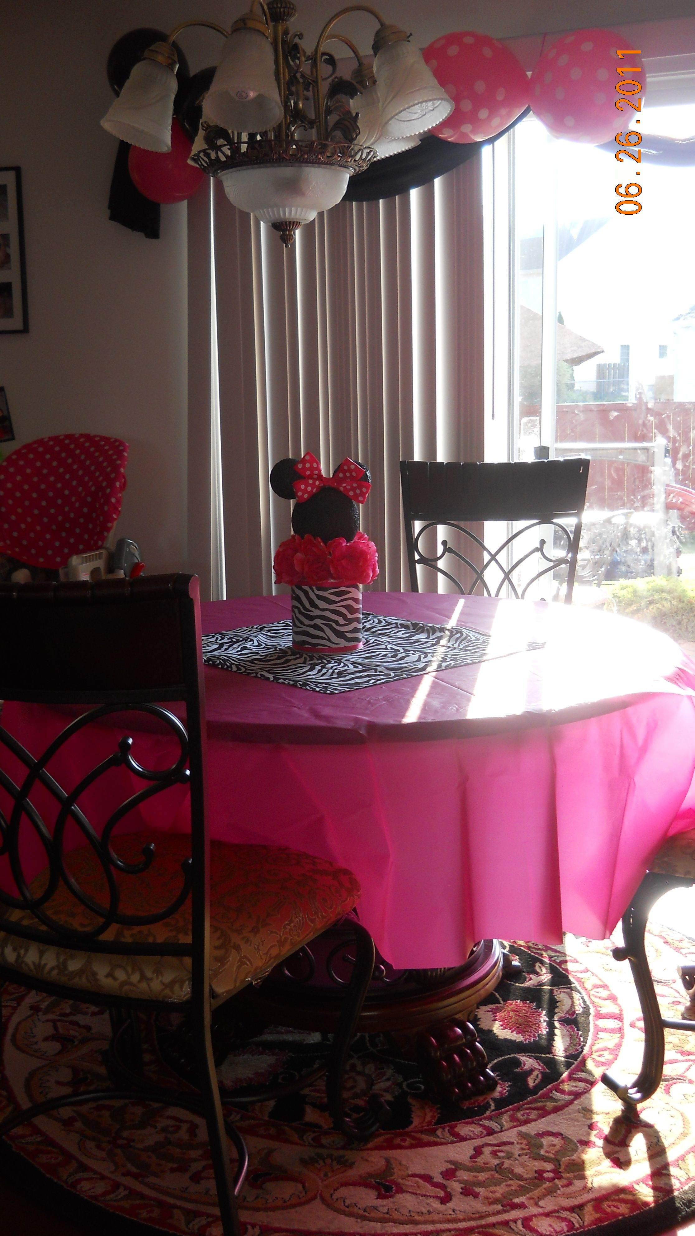 black chair covers party city sofa nz i bought the and pink polka dot balloons at hobby lobby plastic table paper plates cups