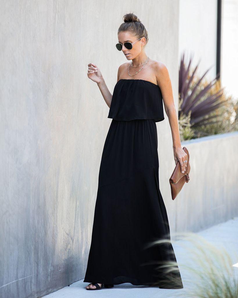 Festivities Strapless Maxi Dress Black Strapless Dress Pattern Strapless Maxi Dress Black Maxi Dress [ 1024 x 819 Pixel ]