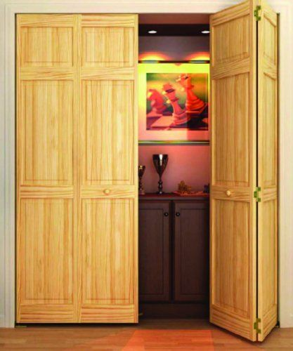Clear Solid Core Unfinished Wood Interior Bi Fold Closet Door, At The Home  Depot   Tablet