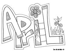 april coloring page - April Coloring Pages Toddlers