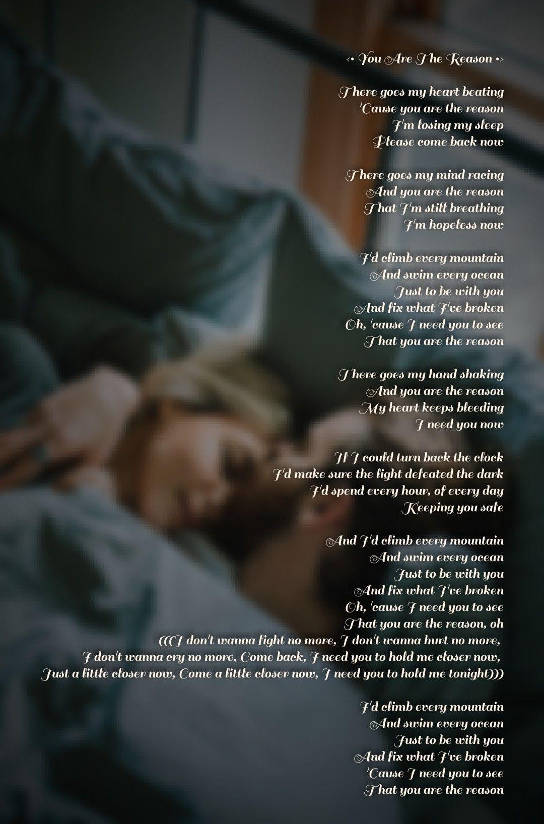 You Are The Reason Calum Scott And Leona Lewis Lyrics Leona