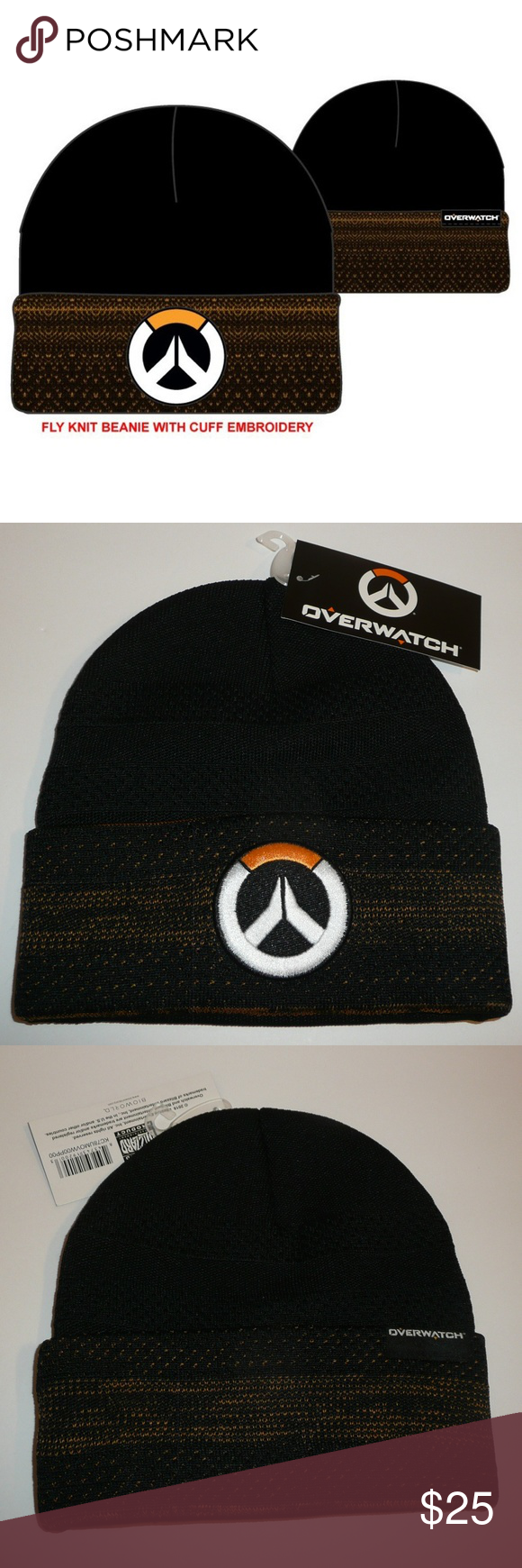 16853a3a2558f Officially Licensed Overwatch Beanie Hat his is for 1 Overwatch Beanie Hat.  This fly knit