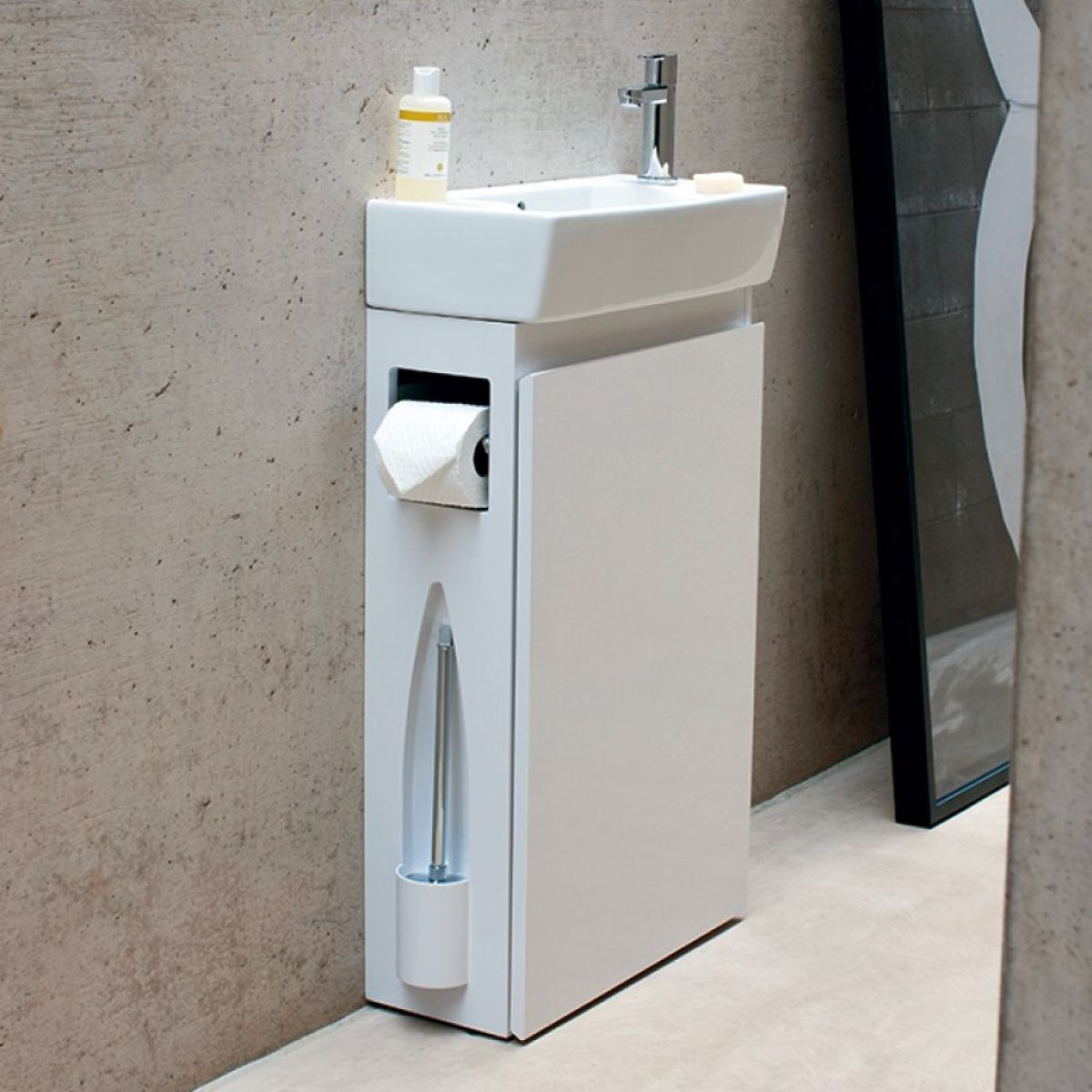 Aqua Cabinets All In One Cloakroom Unit With Basin