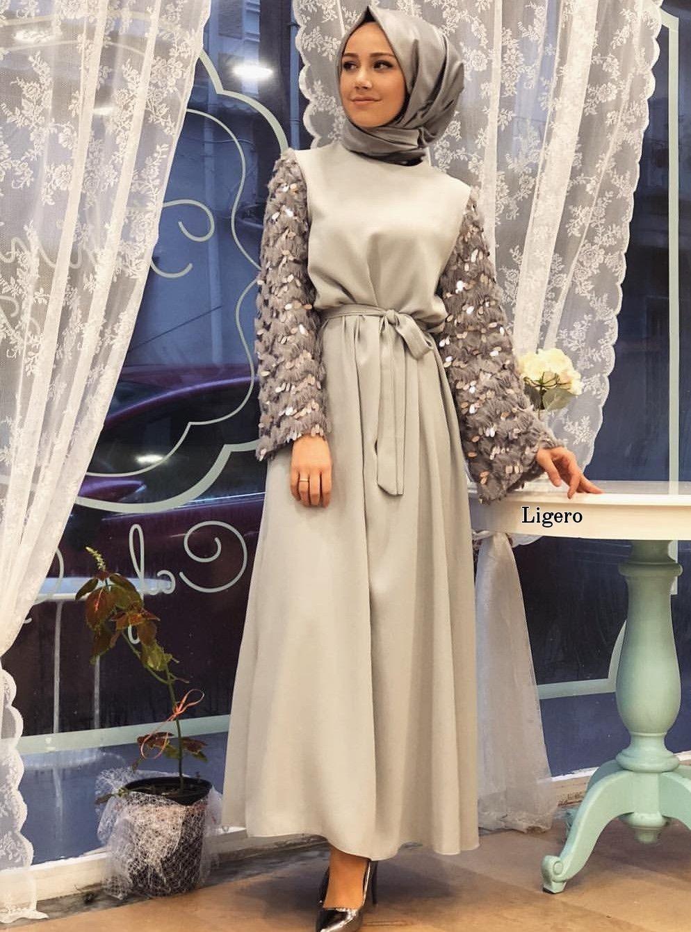 c83a565c0e224 Abiye Tesettür   Abiye Tesettür in 2019   Elbise modelleri, Tarz ...