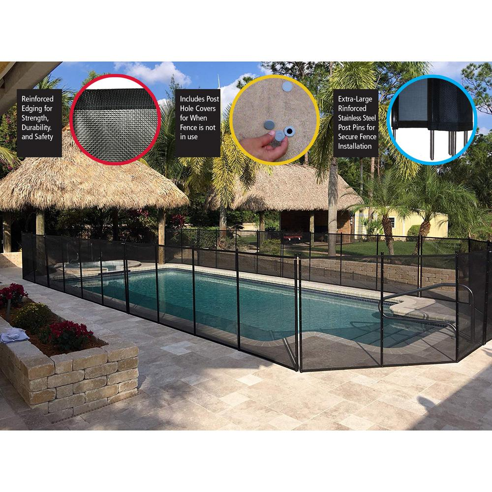 Waterwarden In Ground Pool Safety Fence Wwf200 The Home Depot In 2020 Pool Safety Fence Pool Safety In Ground Pools