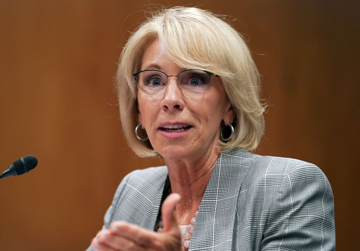 Betsy DeVos Is In Trouble, Again Betsy devos, Student