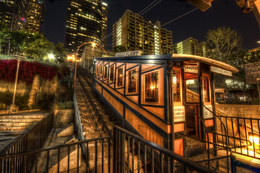 Angeles Flight Is This Little Trolly That Goes Up And Down All Day And Night I Should Probably Research It S Imp Angel Flight Los Angeles Travel Los Angeles