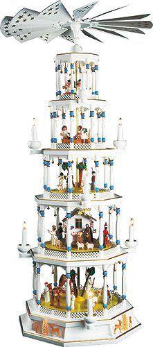 4 - tier Richard Glässer Pirámide de Navidad - romántica - blanco - 48 cm - 123 cm - Richard Glässer: Amazon.es: Hogar