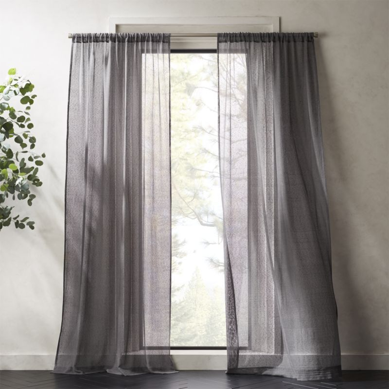 1x Panel Ready Made Voile Net Curtains with Zigzag Black Beige Blue Grey New