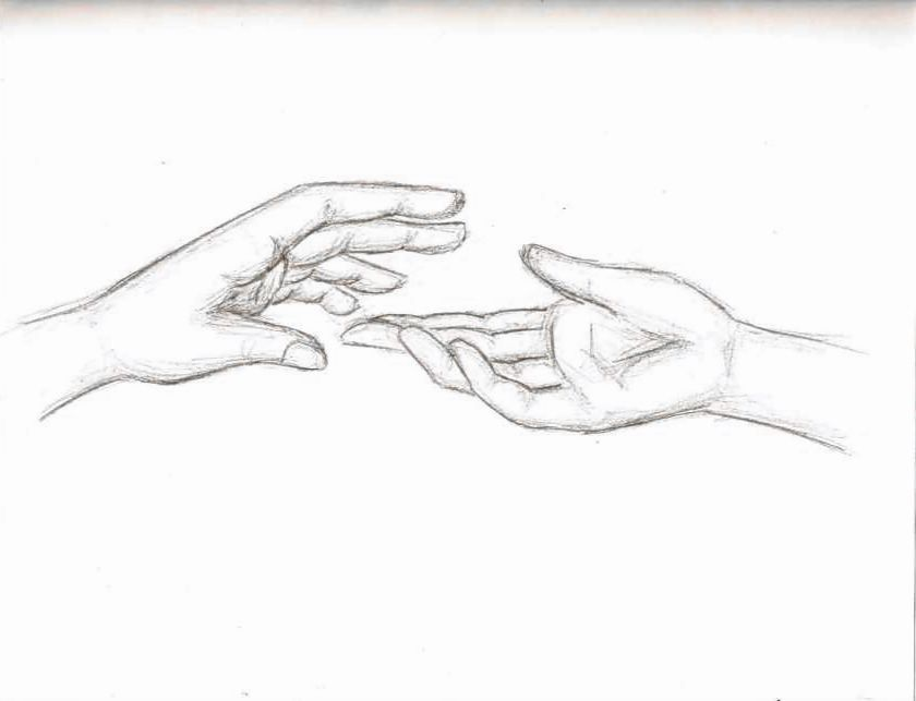 Pencil Drawings Of Hands Holding Something Up